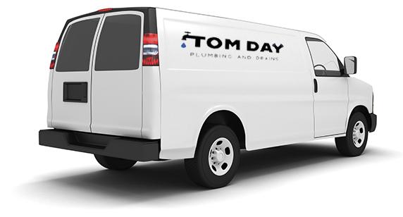 picture of a plumbing van in Toronto